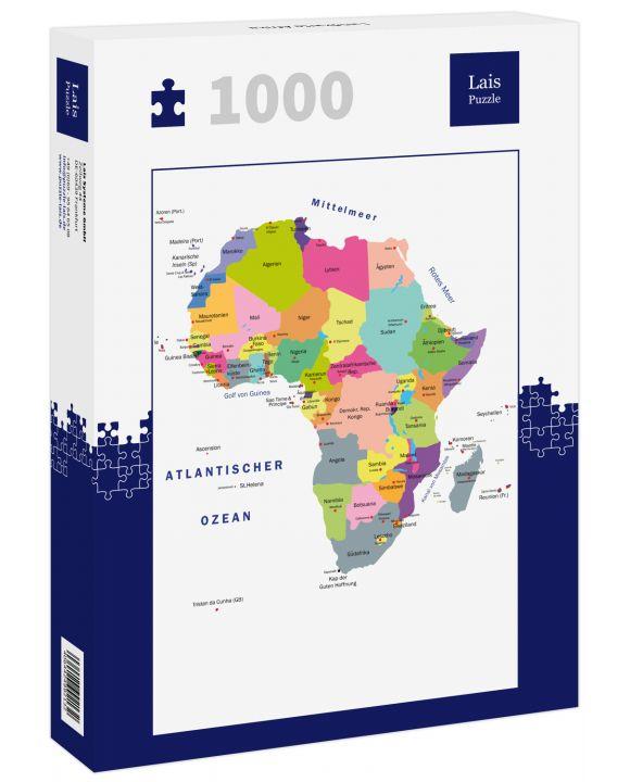 Lais Puzzle - Landkarte Afrika - 1.000 Teile