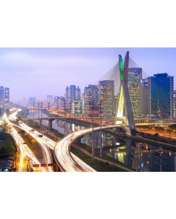 Lais Puzzle - Skyline von Sao Paulo bei Nacht, Brasilien - 500 & 1.000 Teile