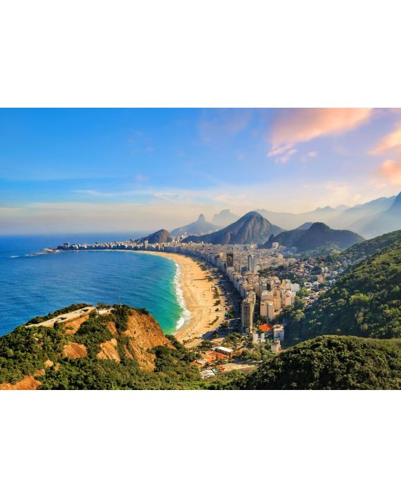 Lais Puzzle - Copacabana Strand und Ipanema Strand in Rio de Janeiro, Brasilien - 500 & 1.000 Teile