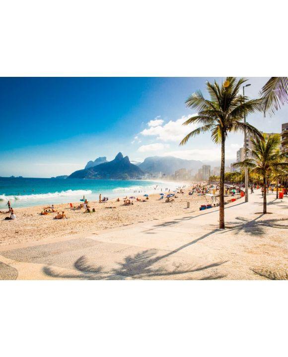 Lais Puzzle - Palmen und Zwei-Brüder-Berg am Strand von Ipanema, Rio de Janeiro - 500 & 1.000 Teile