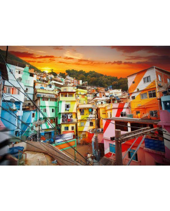 Lais Puzzle - Rio de Janeiro Stadtzentrum und Favela - 500 & 1.000 Teile
