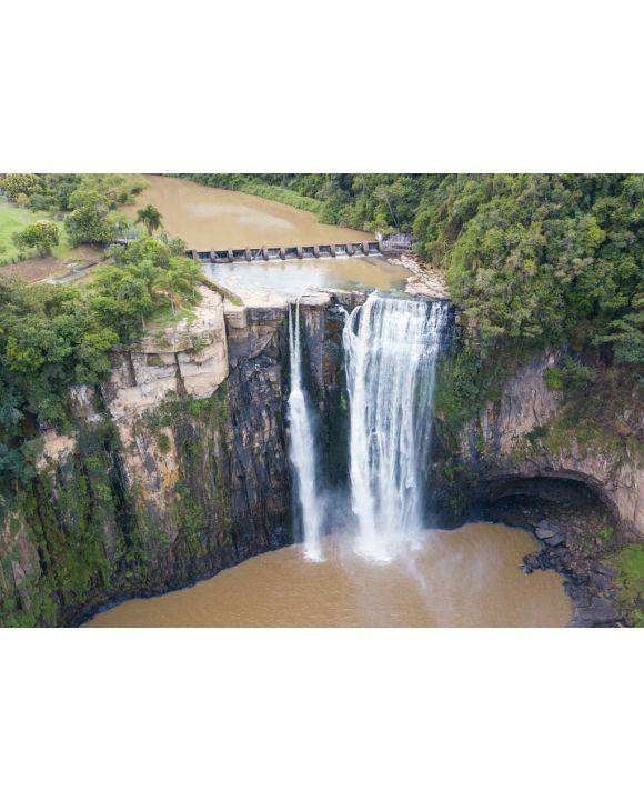Lais Puzzle - Salto Barão do Rio Branco - Prudentópolis. Ein großer Wasserfall inmitten der Natur. Paraná - Brasilien - 500 & 1.000 Teile