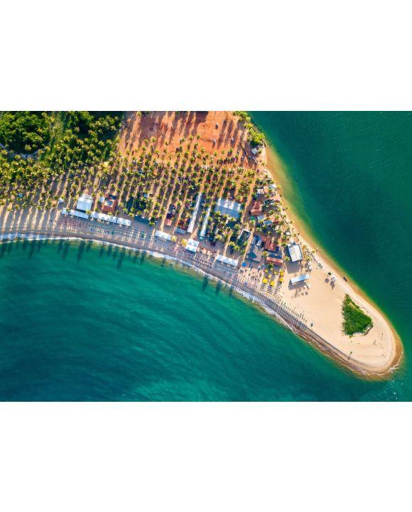 Lais Puzzle - Strand Natur Drohne Coqueiros Litoral Maceió, Alagoas, Brasilien - 500 & 1.000 Teile