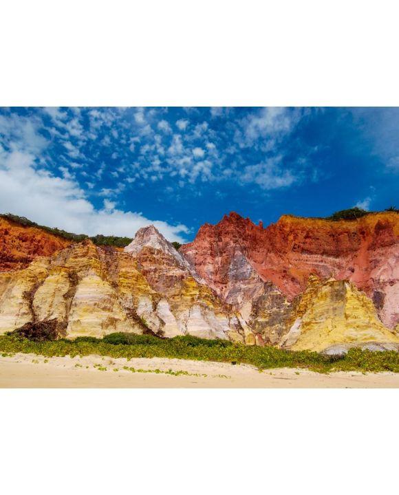 Lais Puzzle - Bunte Klippen an den Stränden von Coruripe, Alagoas, Brasilien - 500 & 1.000 Teile
