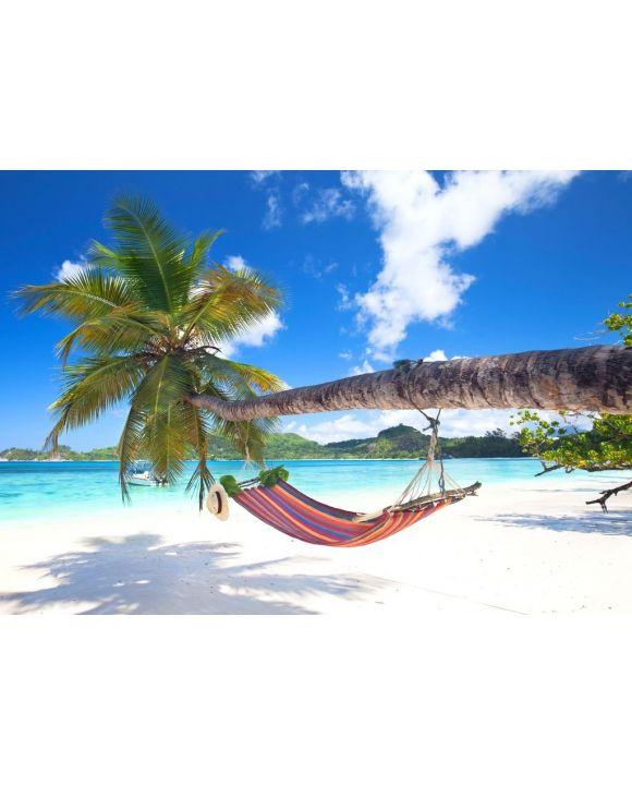 Lais Puzzle - Tropischer Strand mit Palmen und Hängematte - 500 & 1.000 Teile