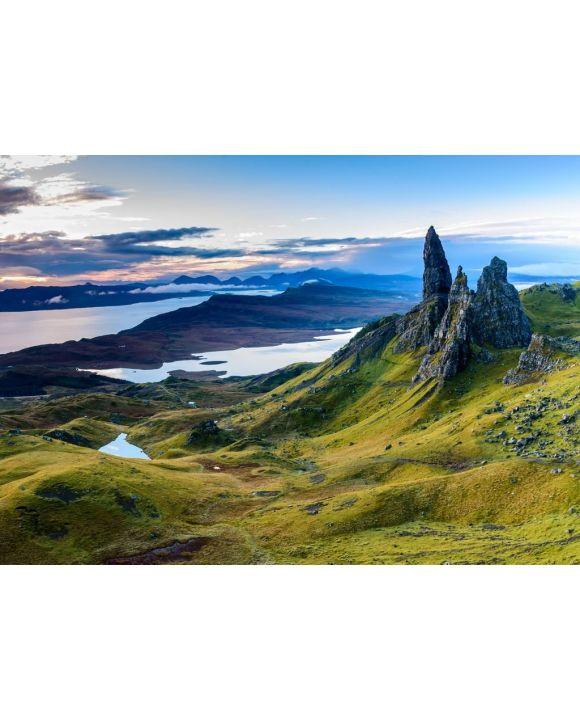 Lais Puzzle - Sonnenaufgang am beliebtesten Ort auf der Isle of Skye - The Old Man of Storr, Schottland - 500 & 1.000 Teile