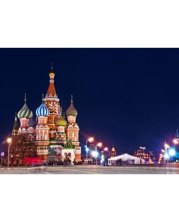 Lais Puzzle - Moskau St. Basilius Kathedrale Nachtaufnahme - 500 & 1.000 Teile