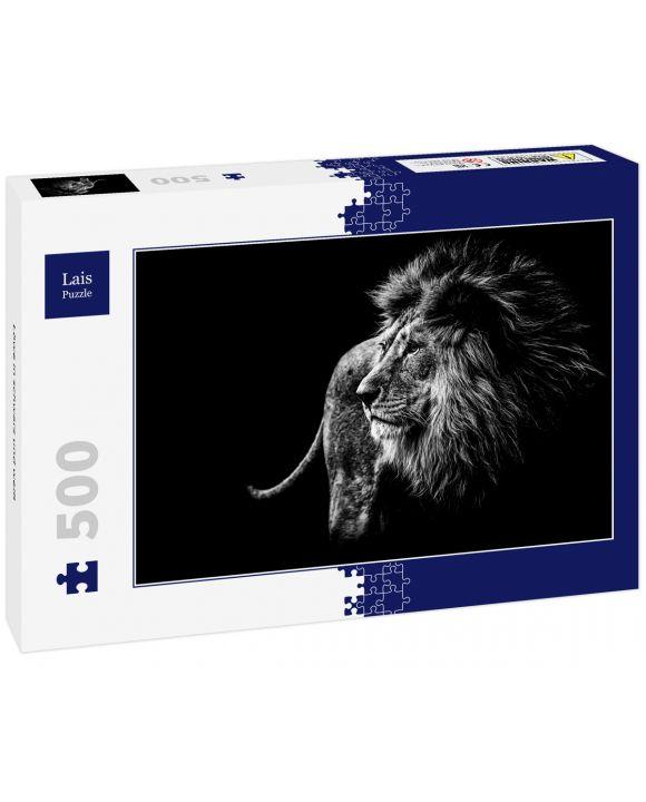 Lais Puzzle - Löwe in schwarz und weiß - 500 Teile