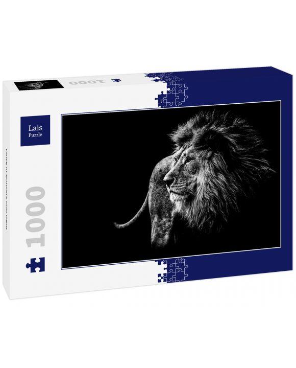 Lais Puzzle - Löwe in schwarz und weiß - 1.000 Teile