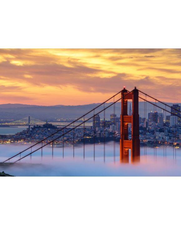 Lais Puzzle - Frühmorgens niedriger Nebel an der Golden Gate Bridge - 500 & 1.000 Teile