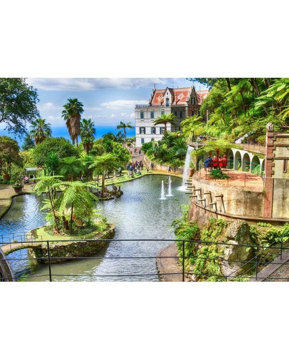 Lais Puzzle - Szenerie des Monte Palace Tropical Garden. Funchal, Insel Madeira, Portugal - 500 & 1.000 Teile