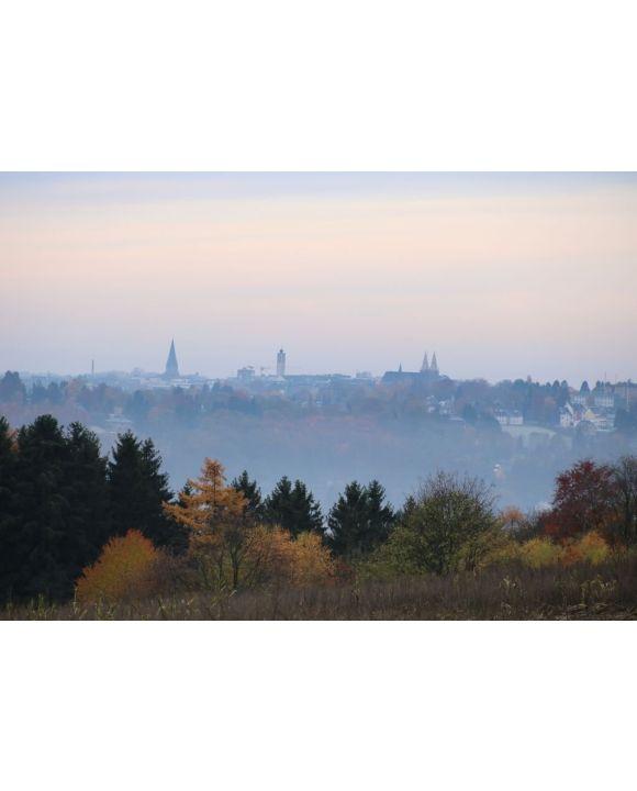 Lais Puzzle - Blick auf die Skyline der Stadt Solingen im Herbst - 500 & 1.000 Teile