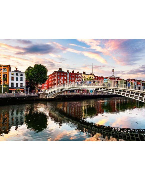 Lais Puzzle - Ha Penny Bridge in Dublin bei Sonnenuntergang, Irland - 500 & 1.000 Teile