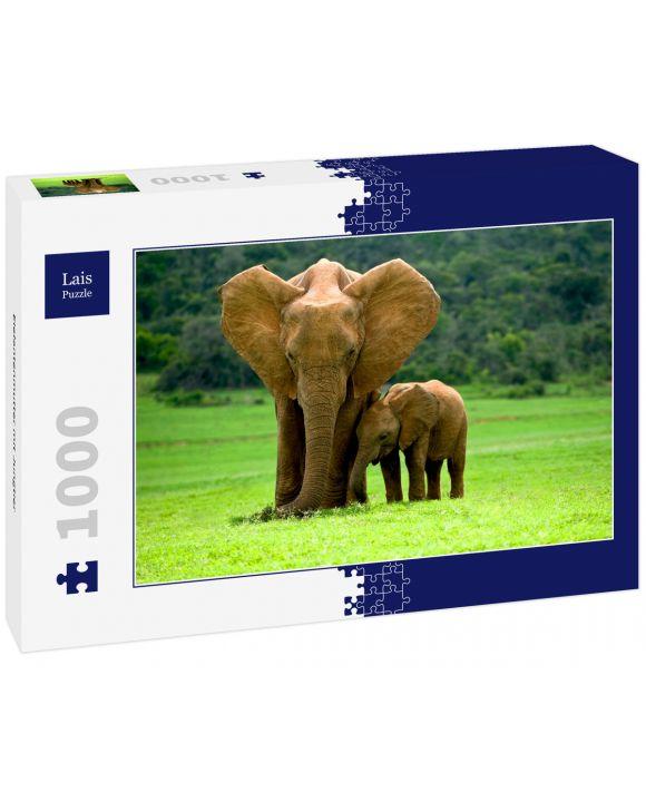 Lais Puzzle - Elefantenmutter mit Jungtier - 1.000 Teile