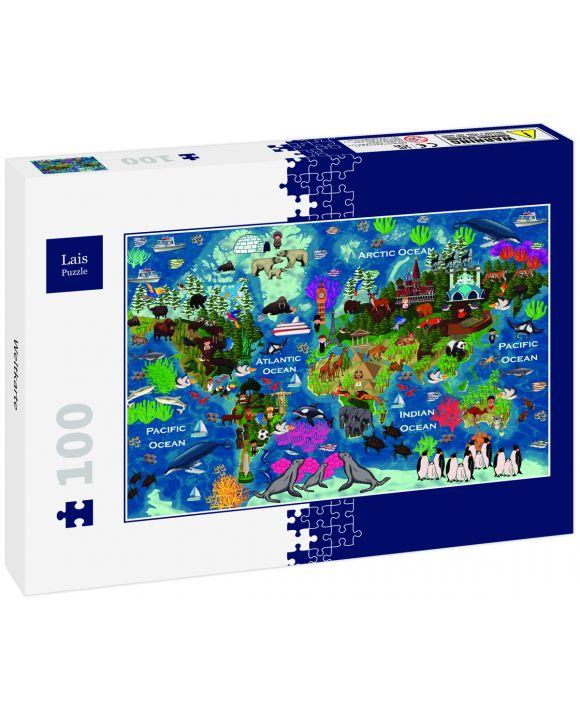 Lais Puzzle - Weltkarte - 100 Teile