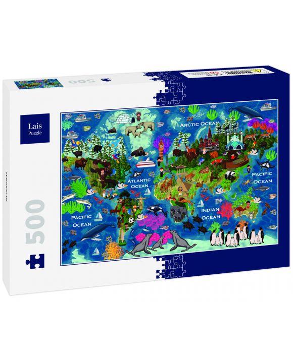 Lais Puzzle - Weltkarte - 500 Teile