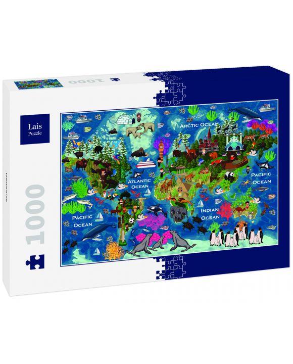 Lais Puzzle - Weltkarte - 1.000 Teile