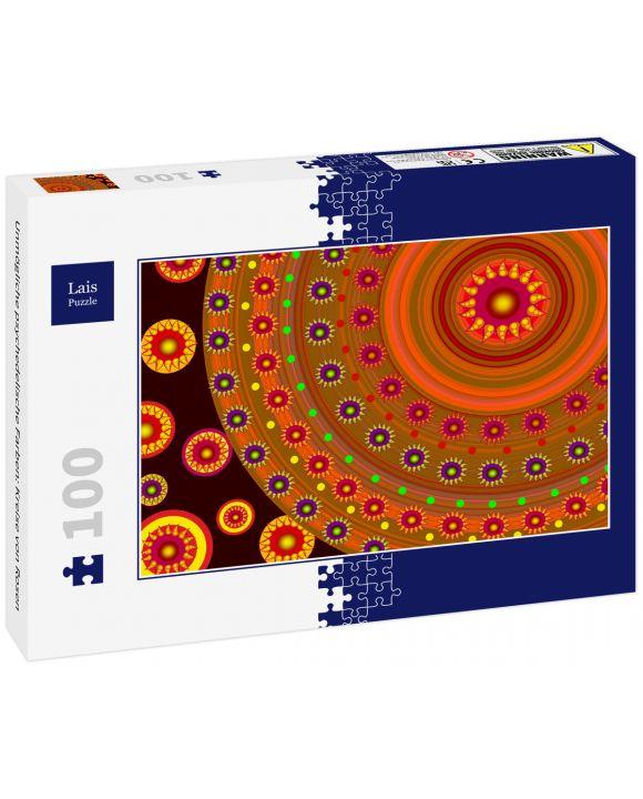Lais Puzzle - Unmögliche psychedelische Farben: Kreise von Rosen - 100 Teile