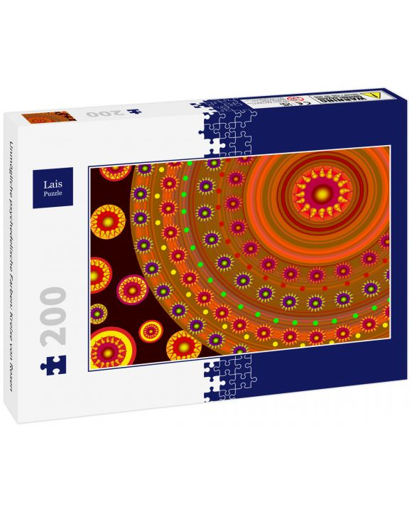 Lais Puzzle - Unmögliche psychedelische Farben: Kreise von Rosen - 200 Teile