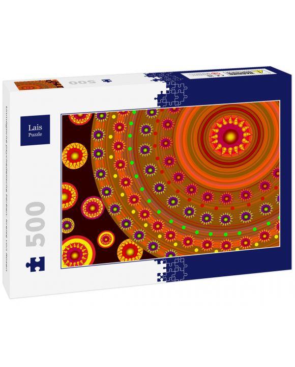 Lais Puzzle - Unmögliche psychedelische Farben: Kreise von Rosen - 500 Teile