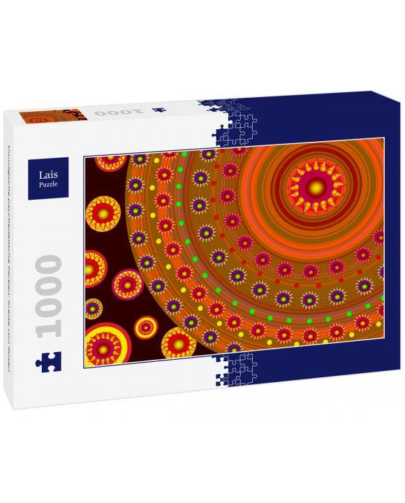 Lais Puzzle - Unmögliche psychedelische Farben: Kreise von Rosen - 1.000 Teile