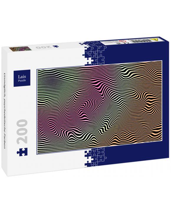 Lais Puzzle - Unmöglich, psychedelische Farben - 200 Teile