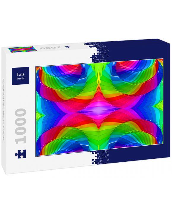 Lais Puzzle - Unmöglich, psychedelische Farben - 1.000 Teile
