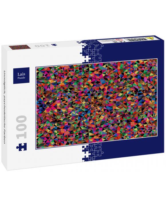 Lais Puzzle - Unmöglich, psychedelische Farben - 100 Teile