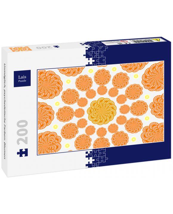 Lais Puzzle - Unmöglich, psychedelische Farben: Blumen - 200 Teile