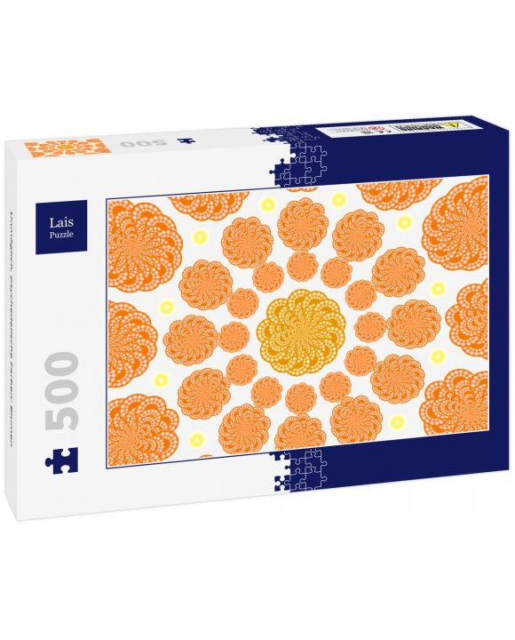 Lais Puzzle - Unmöglich, psychedelische Farben: Blumen - 500 Teile