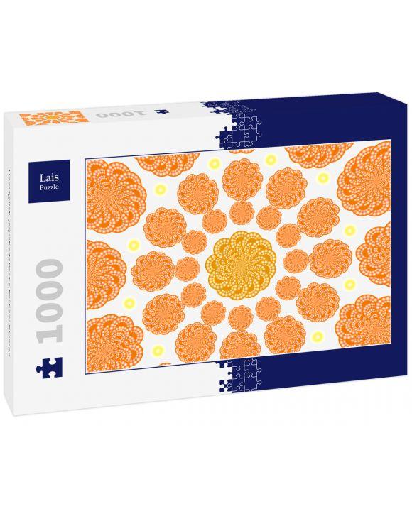 Lais Puzzle - Unmöglich, psychedelische Farben: Blumen - 1.000 Teile