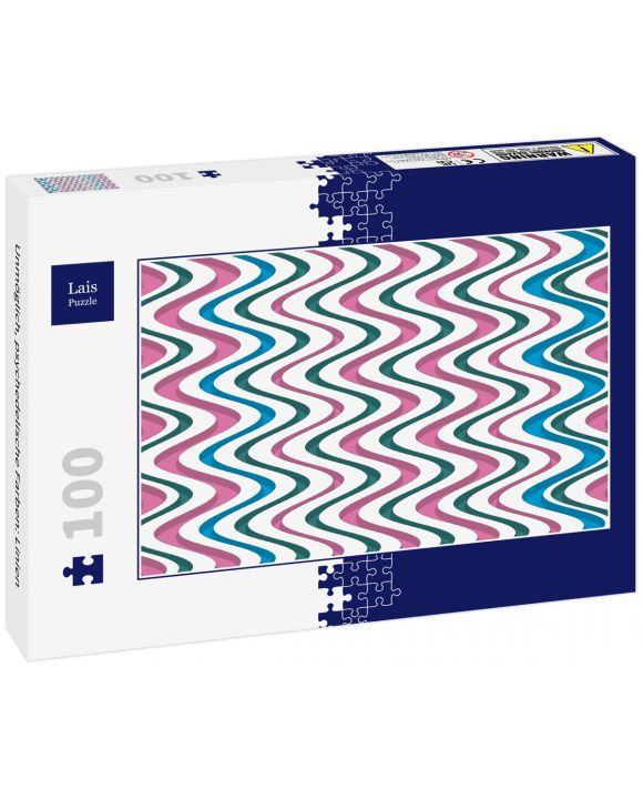 Lais Puzzle - Unmöglich, psychedelische Farben: Linien - 100 Teile