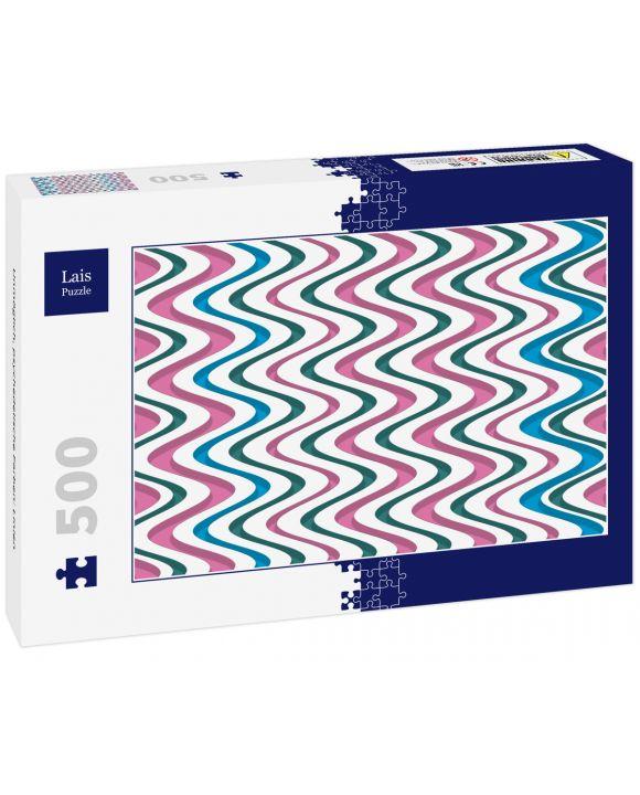 Lais Puzzle - Unmöglich, psychedelische Farben: Linien - 500 Teile