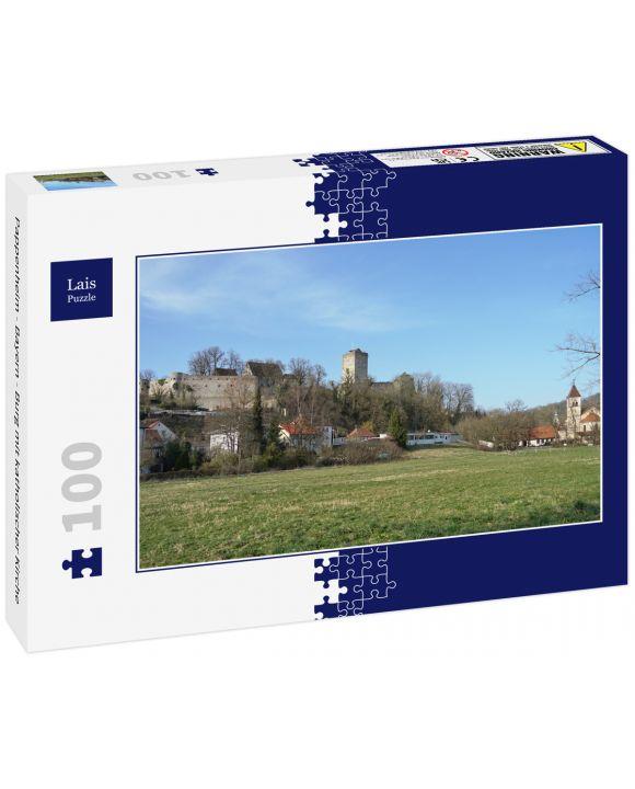 Lais Puzzle - Pappenheim - Bayern - Burg mit katholischer Kirche - 100 Teile
