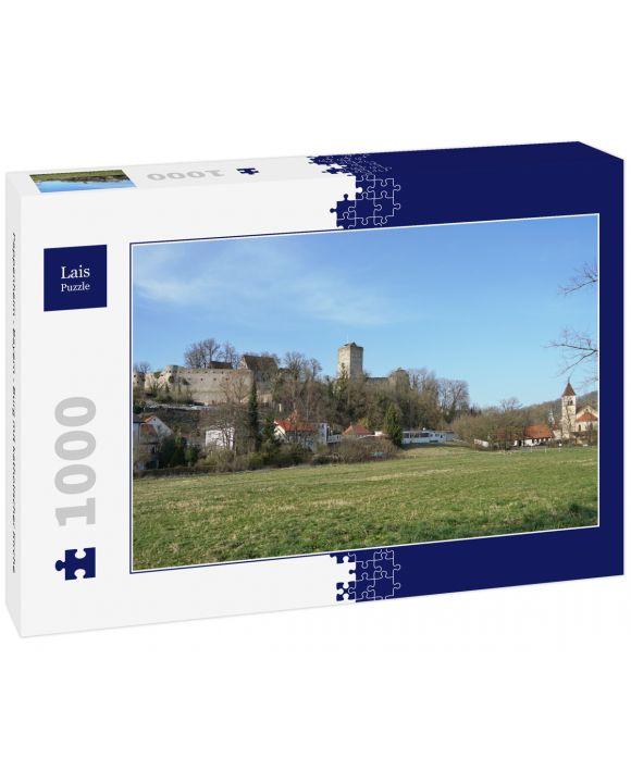 Lais Puzzle - Pappenheim - Bayern - Burg mit katholischer Kirche - 1.000 Teile