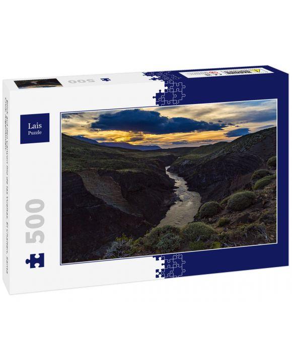 Lais Puzzle - Blick auf den Canyon Rio de las Vueltas. El Chalten, Santa Cruz, Argentinien. - 500 Teile