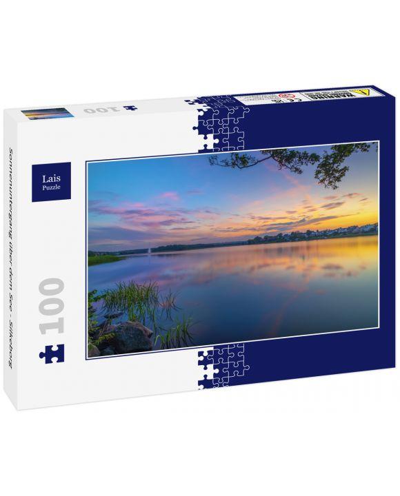 Lais Puzzle - Sonnenuntergang über dem See - Silkeborg - 100 Teile