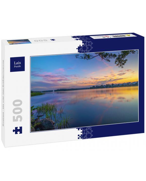 Lais Puzzle - Sonnenuntergang über dem See - Silkeborg - 500 Teile