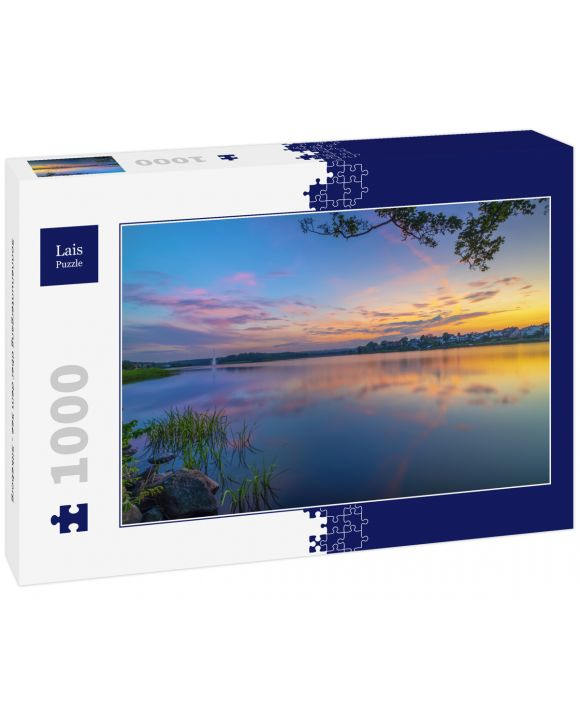 Lais Puzzle - Sonnenuntergang über dem See - Silkeborg - 1.000 Teile