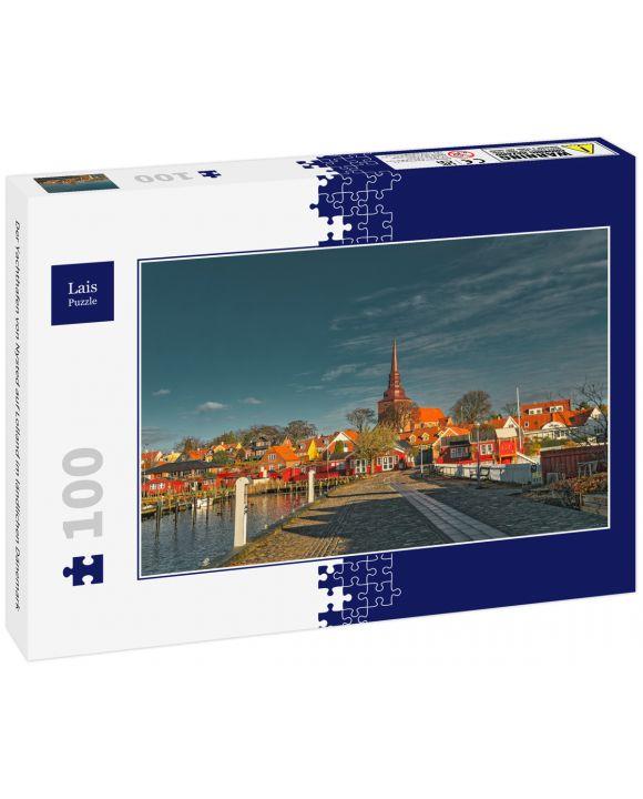 Lais Puzzle - Der Yachthafen von Nysted auf Lolland im ländlichen Dänemark - 100 Teile