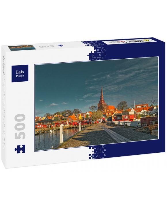 Lais Puzzle - Der Yachthafen von Nysted auf Lolland im ländlichen Dänemark - 500 Teile