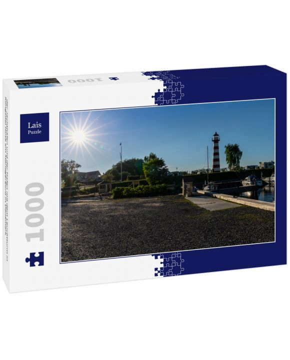 Lais Puzzle - der Jachthafen und der Hafen mit dem Leuchtturm in Kongsdal Huse am Mariagerfjord in Dänemark - 1.000 Teile