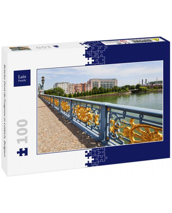 Lais Puzzle - Brücke Pont de Fragnee in Lüttich, Belgien - 100 Teile