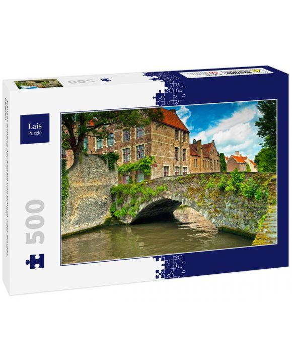 Lais Puzzle - Häuser entlang der Kanäle von Brügge oder Bruges, Belgien - 500 Teile