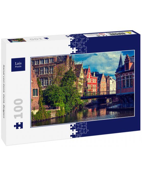 Lais Puzzle - Kanal von Gent. Gent, Belgien - 100 Teile