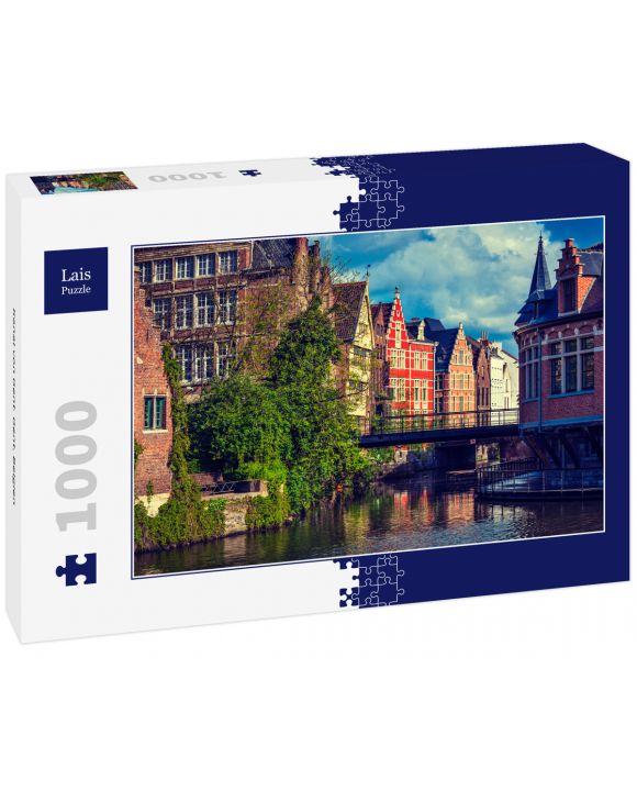 Lais Puzzle - Kanal von Gent. Gent, Belgien - 1.000 Teile