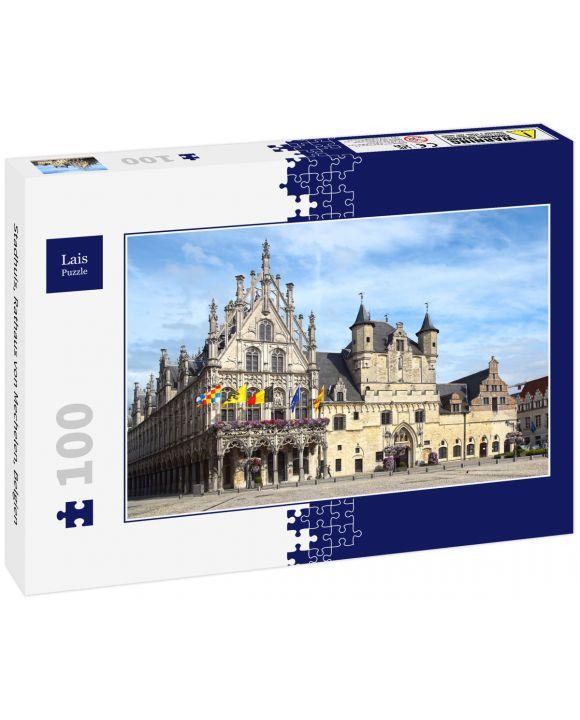 Lais Puzzle - Stadhuis, Rathaus von Mechelen, Belgien - 100 Teile