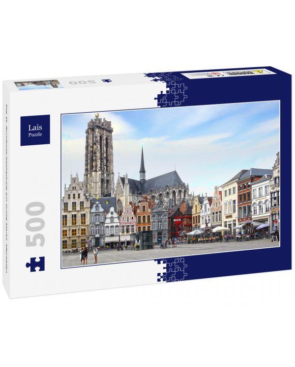 Lais Puzzle - Die St. Rumbold-Kathedrale am Grote Markt. Mechelen - 500 Teile