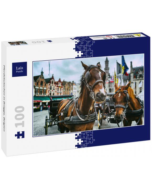 Lais Puzzle - Pferdekutschen in Brügge, Belgien - 100 Teile