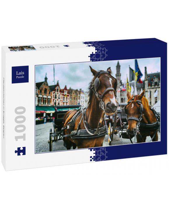 Lais Puzzle - Pferdekutschen in Brügge, Belgien - 1.000 Teile